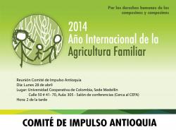 Reunión General Comité Impulso Antioquia AIAF 2014: Lunes Abril 28